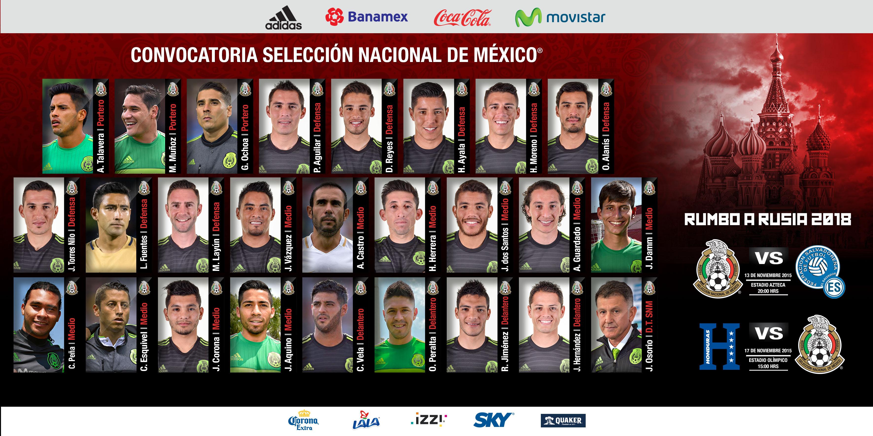 Convocatoria de la Selección Nacional Mexicana para eliminatoria mundialista