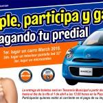 Recompensará Tesorería de Agua Prieta con rifa de un carro a quienes cumplan con pago de prediales