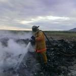 Arde basurón de Naco