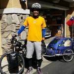 Llega desde Alaska en bicicleta, le roban en HMO