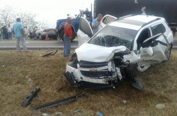 Accidente carretero en Colombia