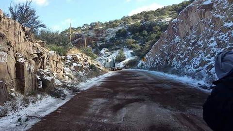 Alerta por nevada al Noroeste de Sonora.