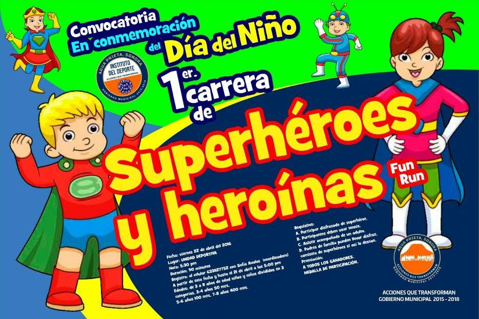 Invita Instituto del Deporte a la Carrera de Superhéroes