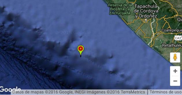 Sismo de magnitud 6.0 sacude a Chiapas