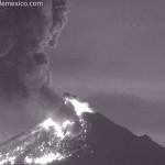 Exhalación de Popocatépetl, la mayor en 3 años