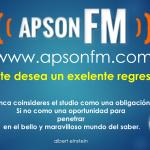 APSONFM te desea un exelente regreso a clases!!! www.apsonfm.com
