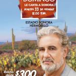 PLÁCIDO DOMINGO le canta a Sonora.