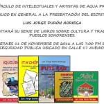 Presentación del escritor Sonorense Luis Jorge Durón Noriega.